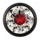 Absolute Black Epoxy Kugel - Light Siam (LS) Swarovski...