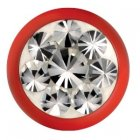 Fire Red Epoxy Kugel - Crystal (CC) Swarovski Crystal