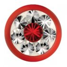 Fire Red Epoxy Kugel - Light Siam (LS) Swarovski Crystal