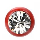 Fire Red Jewelled Ball - Crystal (CC) Swarovski Crystal