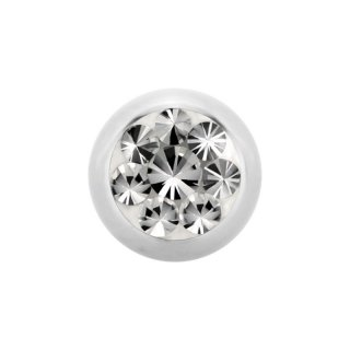 Steel Epoxy SWAROVSKI Jewelled Ball -  Epoxy Kristallkugel - Crystal CC