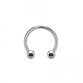 Steel Micro Circular Barbell with Balls - Mini Hufeisen aus Stahl
