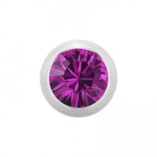 Steel SWAROVSKI Jewelled Ball - Kristallkugel - Fuchsia FA