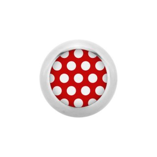 Steel Screw Ball - Polka Dots - Rot / Weiß